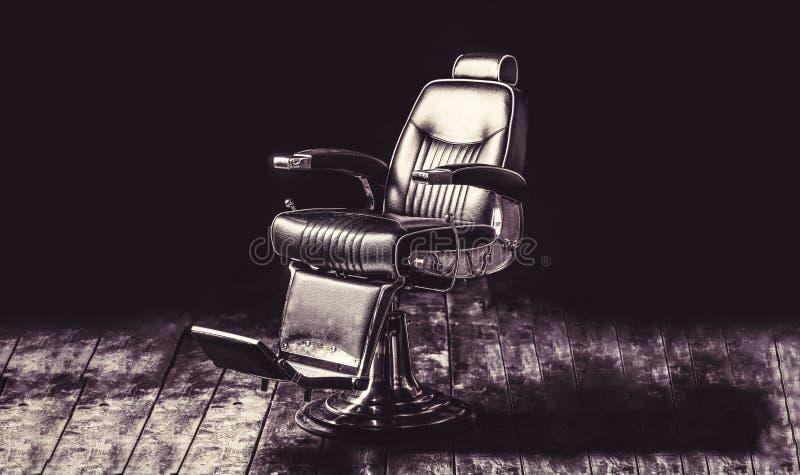 Stilfull tappning Barber Chair Frisersalongf?t?ljen, den moderna fris?ren och h?rsalongen, barberare shoppar f?r m?n professionel royaltyfri foto