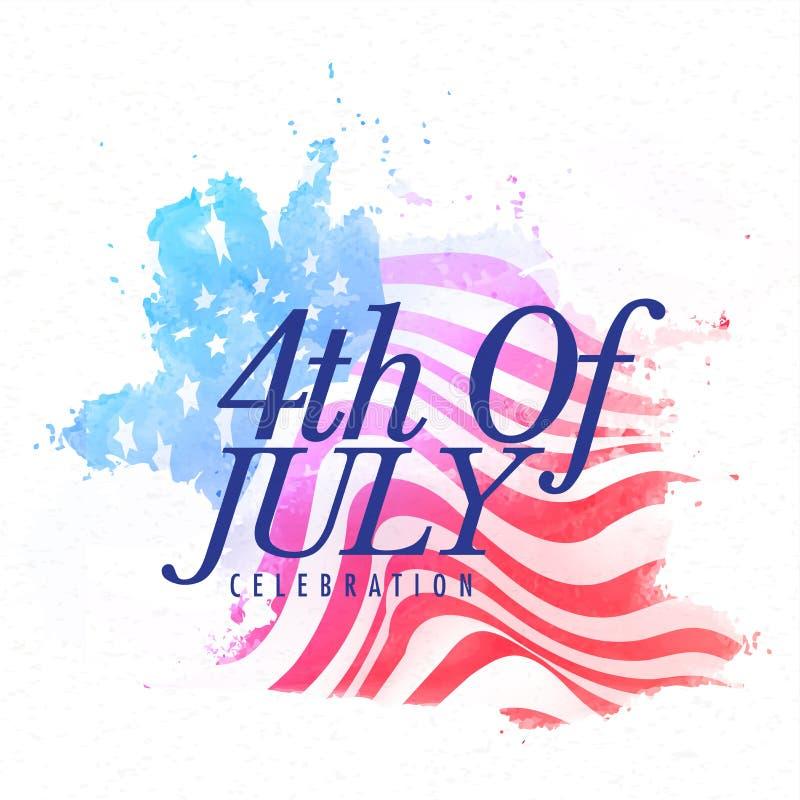 Stilfull text för 4th av Juli beröm stock illustrationer