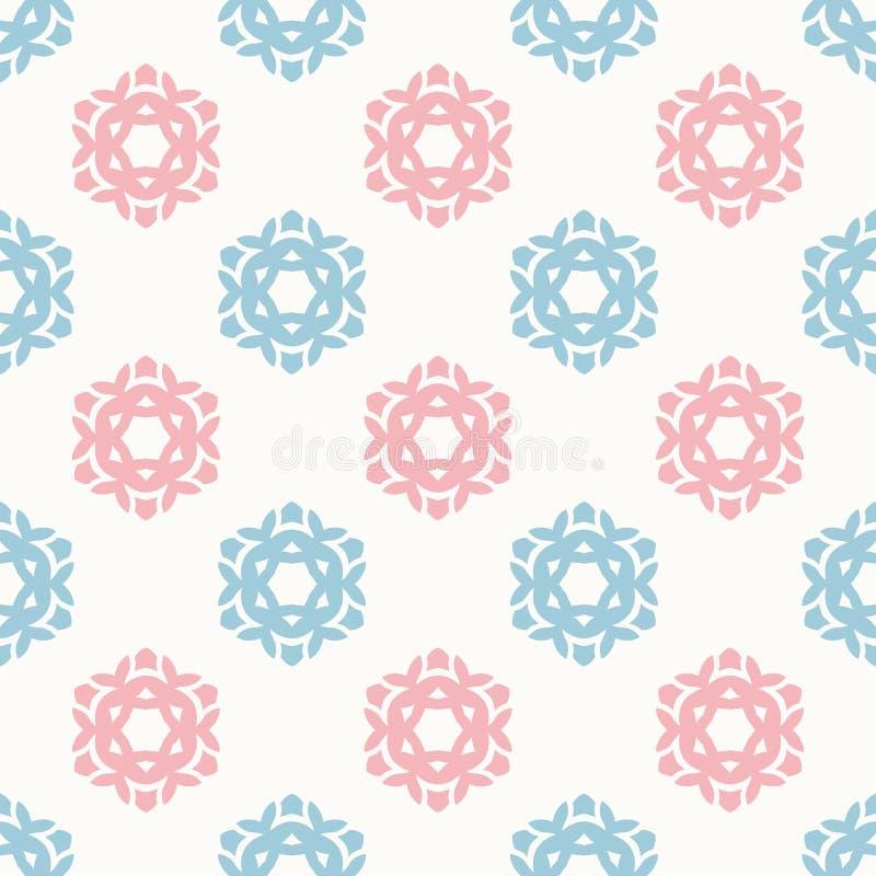 Stilfull textur för geometrisk blom- modell för blomma sömlös - tygsamlingar vektor illustrationer