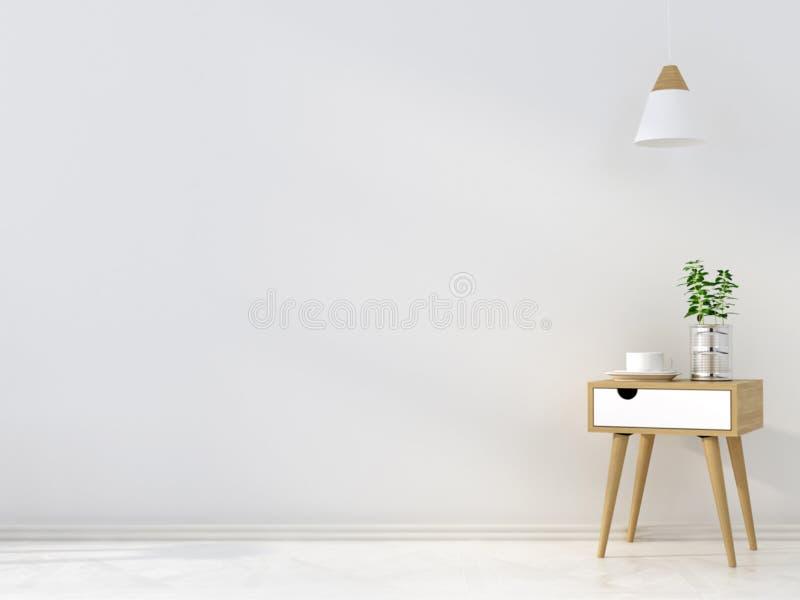 Stilfull trätabell och en ljuskrona vektor illustrationer