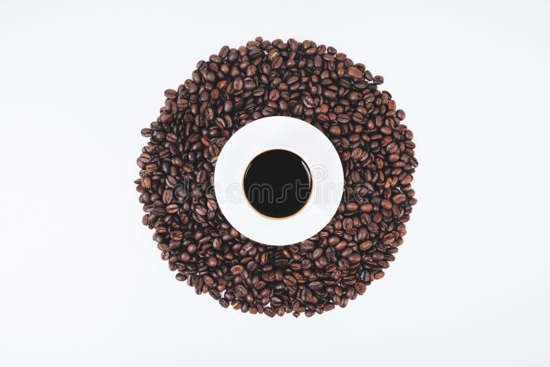 stilfull wallpaper för kaffe arkivbilder