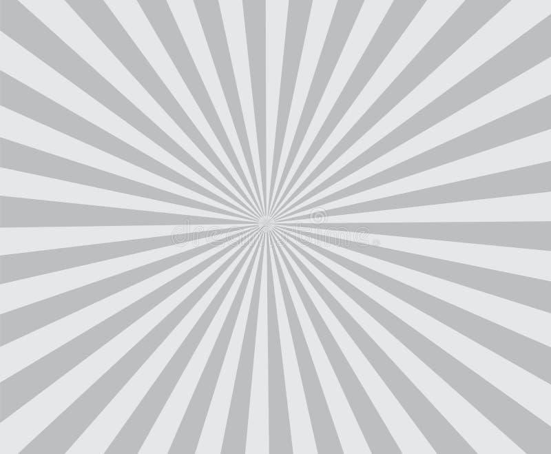 Stilfulla kulöra strålar Ray för retro bakgrundsgrå färger royaltyfri illustrationer
