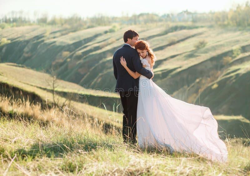 Stilfullt bröllop på en natur royaltyfria foton