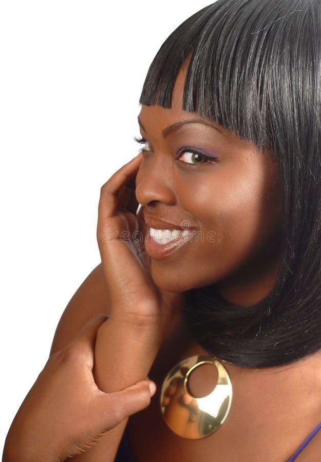 stilfullt hår royaltyfria bilder