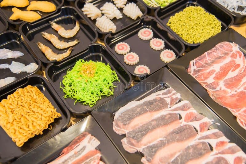 Stili cinesi dell'alimento dello shabu immagini stock libere da diritti