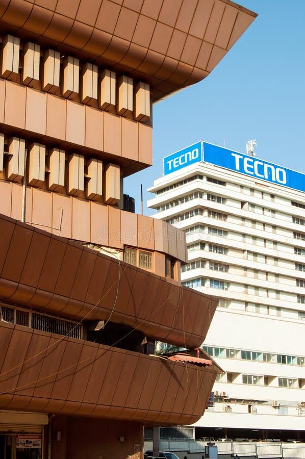 Stili di contrapposizione della costruzione, Kampala, Uganda immagini stock libere da diritti