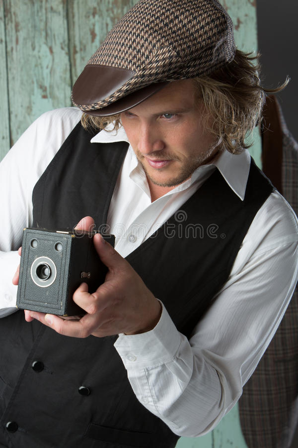 Stilig caucasian man arkivfoto