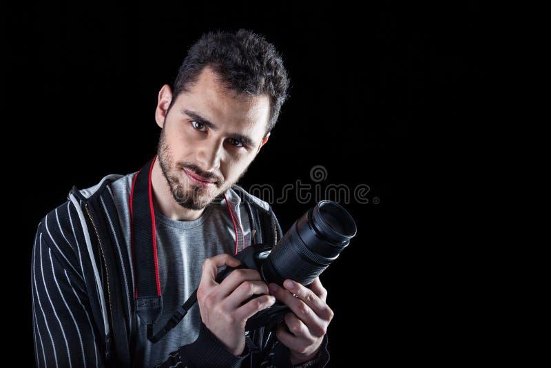 Stilig fotograf royaltyfri foto
