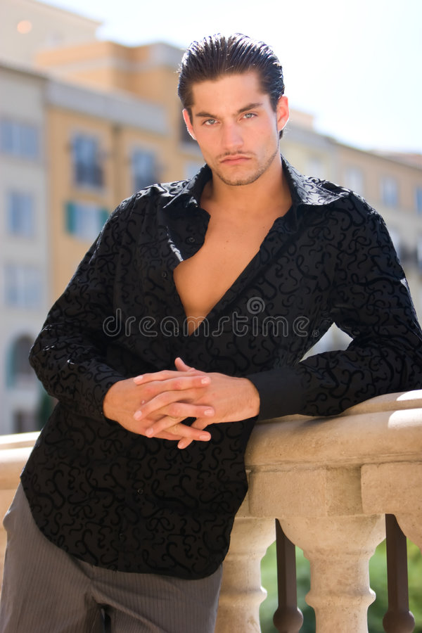 stilig male modell royaltyfria foton