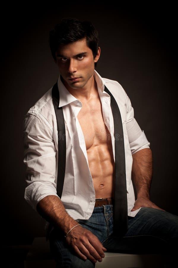 Stilig manlig modell arkivbild