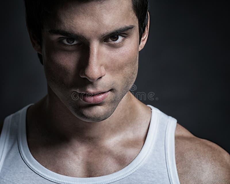 Stilig manlig modell Portrait arkivfoto