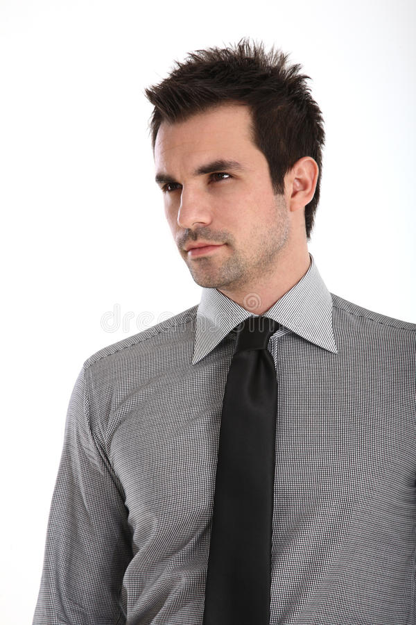 stilig manskjortatie royaltyfri bild
