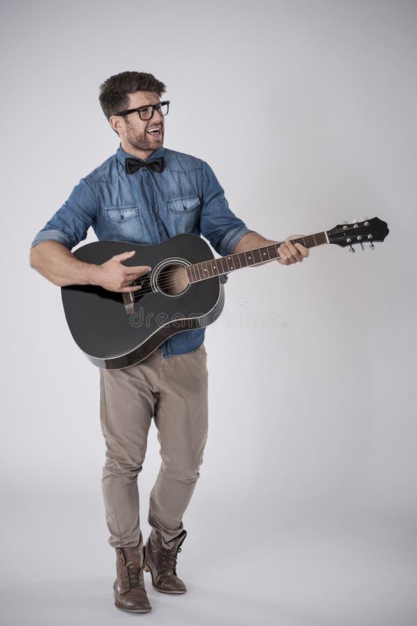Stilig musiker royaltyfri fotografi