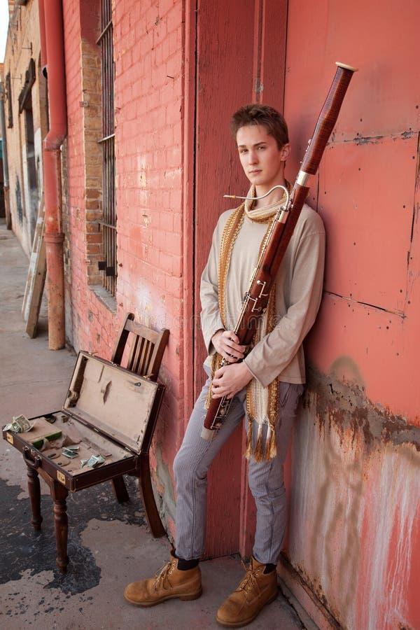 stilig musiker för fagott royaltyfri fotografi