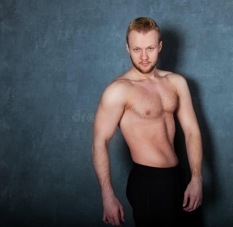Stilig muskulös manlig modell arkivbilder