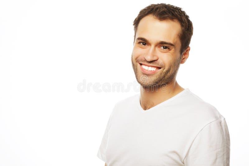 Stilig skjorta för manblankovit fotografering för bildbyråer