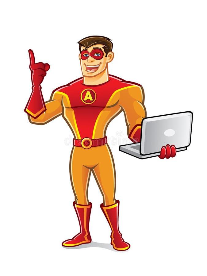 Stilig Superheroanteckningsbok stock illustrationer