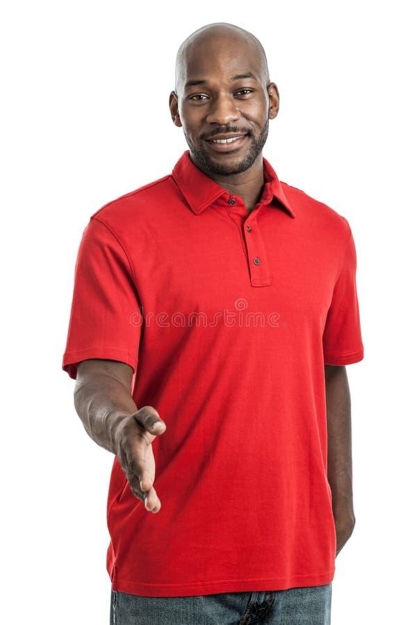 Stilig svart man som skakar händer arkivfoton