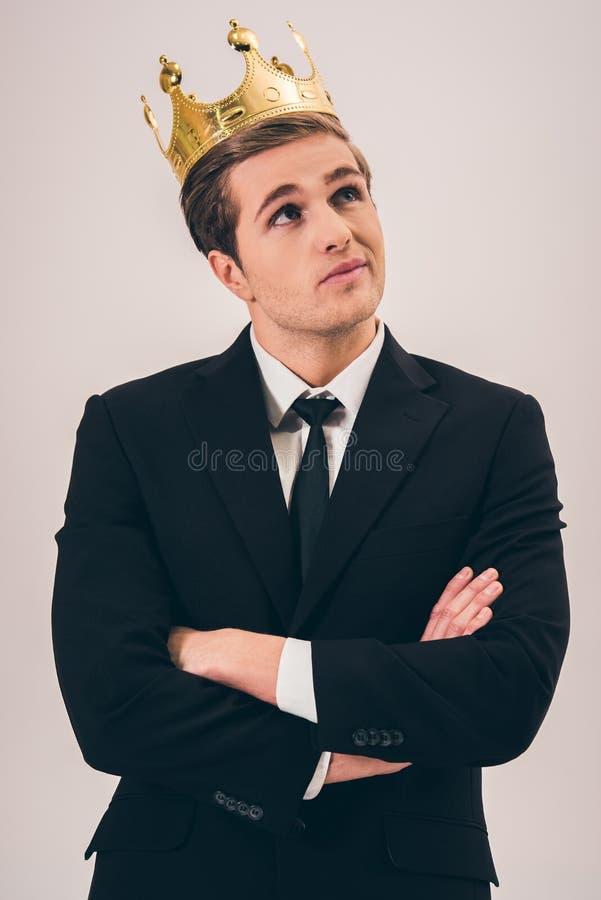 Stilig ung prins royaltyfria foton
