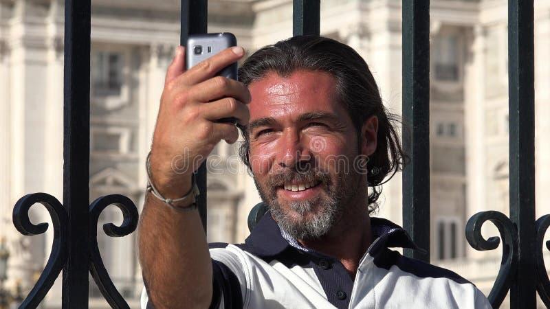 Stiliga manliga Selfie arkivfoto