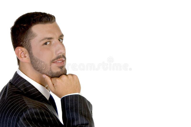 stiligt tänka för businessperson royaltyfri fotografi