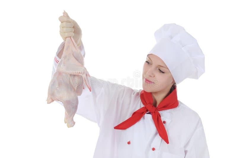 stiligt uniform barn för kock royaltyfria foton