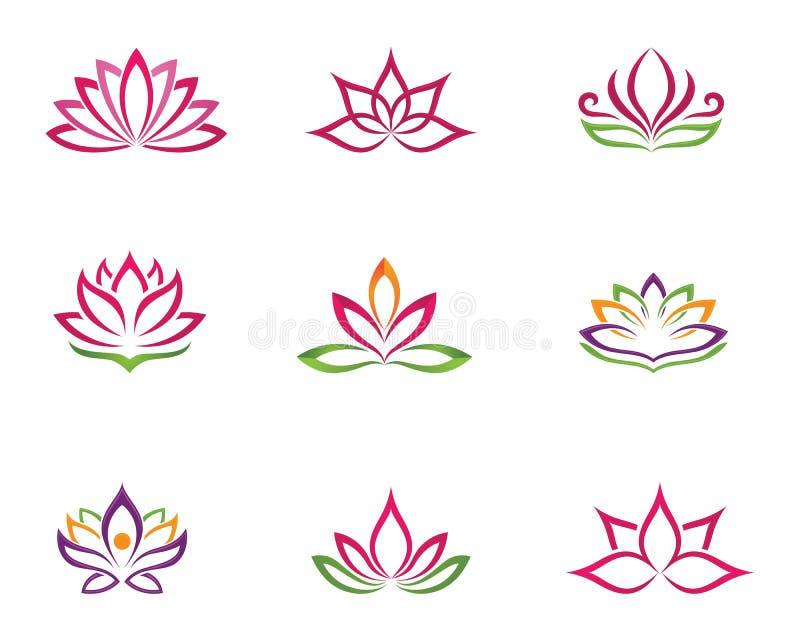 Stiliserad bakgrund för vektor för symbol för lotusblommablomma vektor illustrationer
