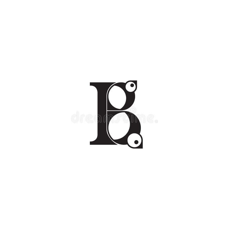 Stiliserad bokstav B med fåglar Bokstäver för bruk i design vektor illustrationer