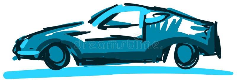Stiliserad färgrik bil stock illustrationer