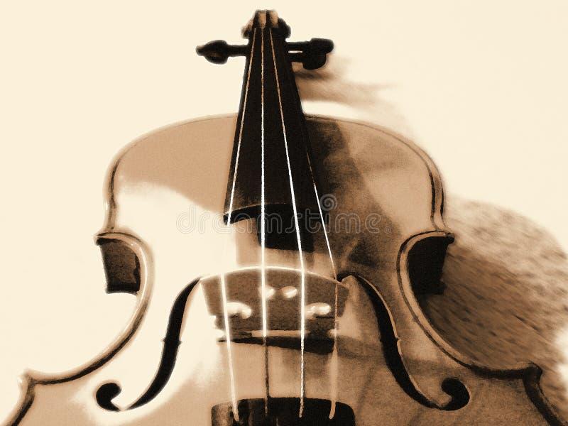 Stiliserad fiol i Sepia fotografering för bildbyråer