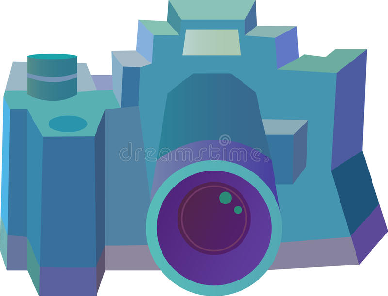 Stiliserad kamera - illustration royaltyfria foton