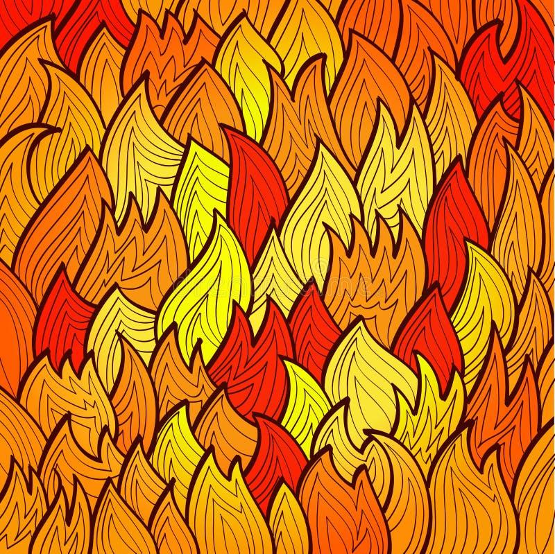 Stiliserad ljus brandbakgrund vektor illustrationer