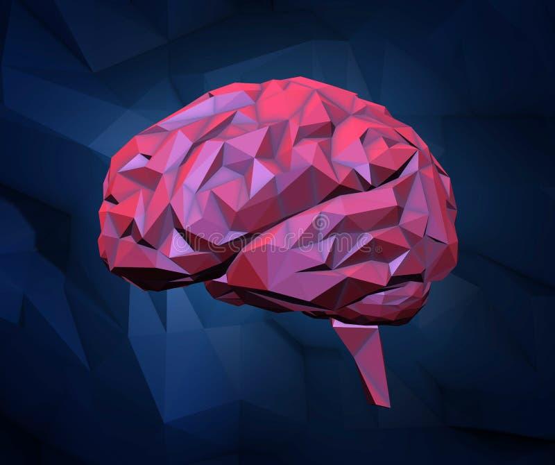 Stiliserad mänsklig hjärna royaltyfri illustrationer