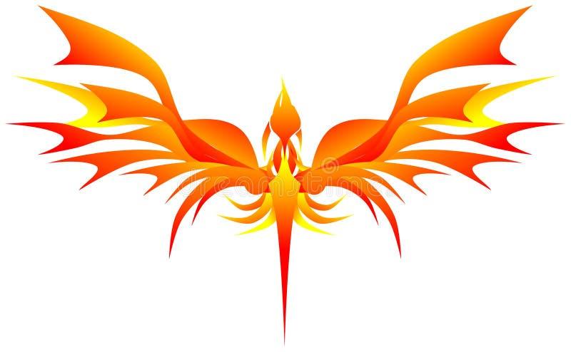Stiliserade phoenix royaltyfri illustrationer