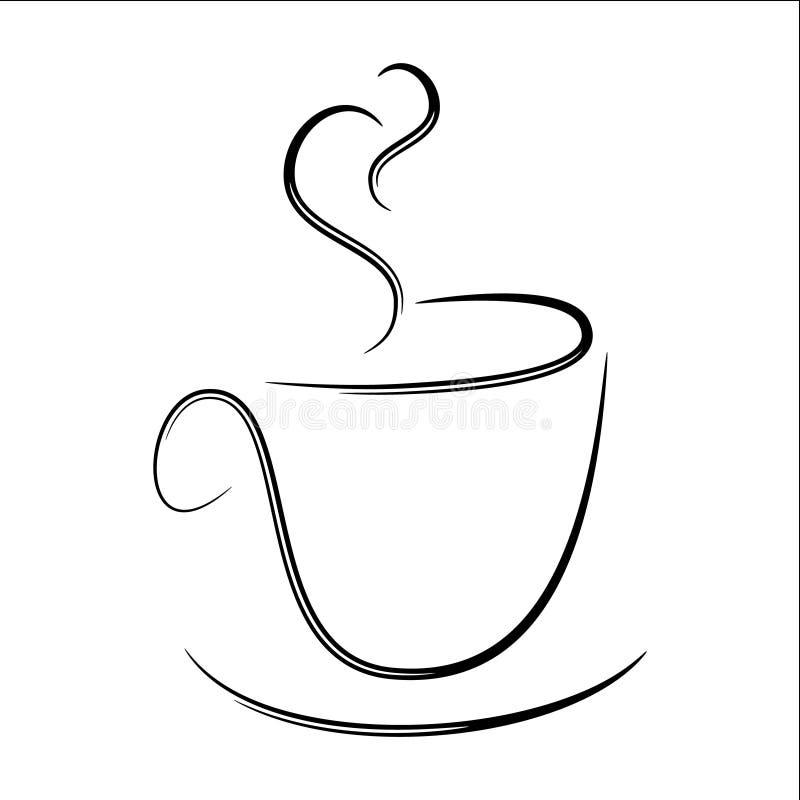Stiliserat ånga kaffe råna vektor illustrationer