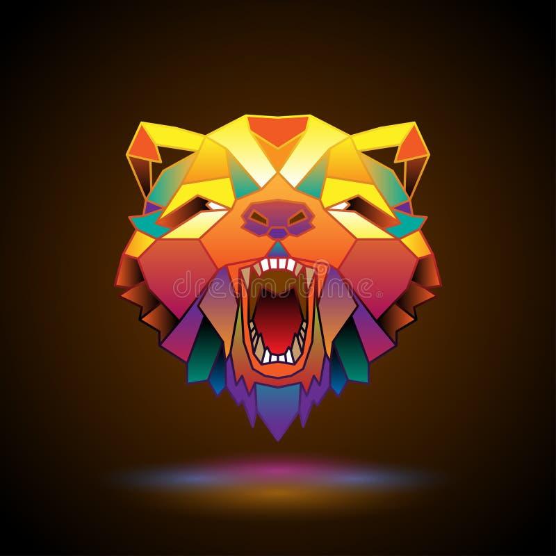 Stiliserat björnhuvud vektor illustrationer