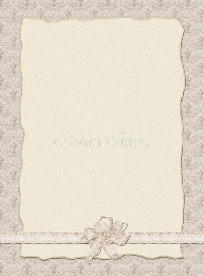 Stilish Hochzeitseinladung stockbild