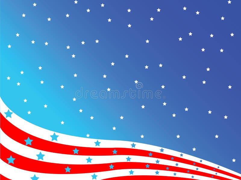 Stilisiert amerikanische Flagge stock abbildung