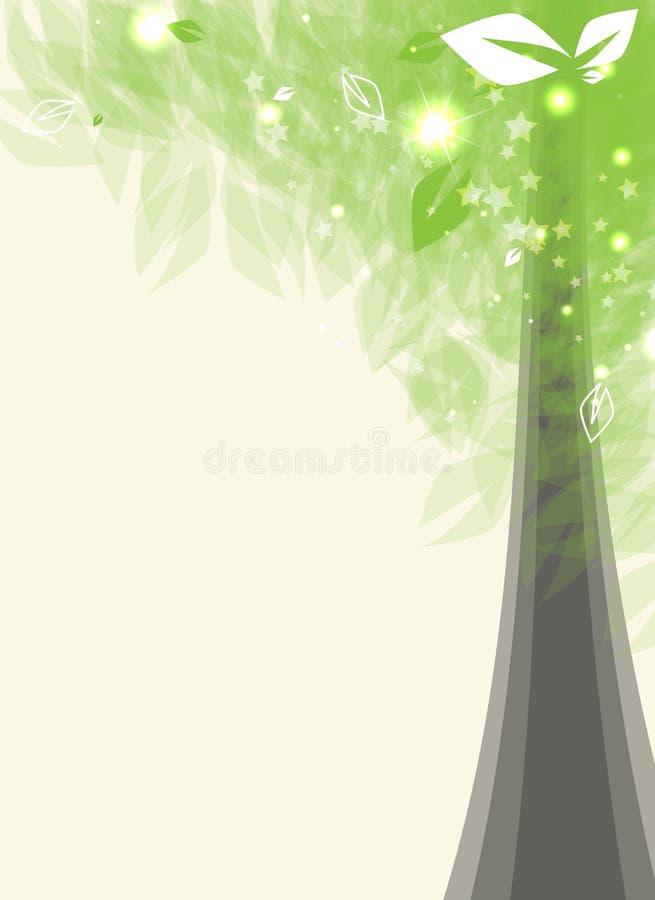 Stilisiert Baum der futuristischen Karte mit leafage vektor abbildung