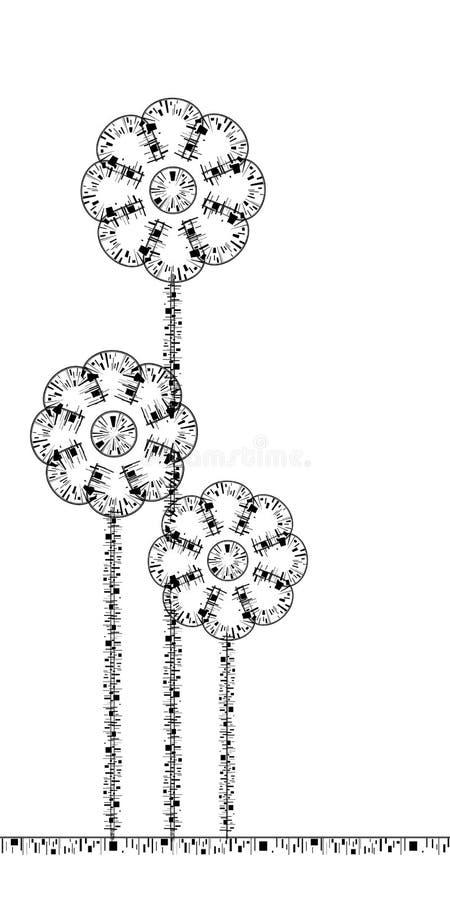 Stilisiert Blumen stock abbildung