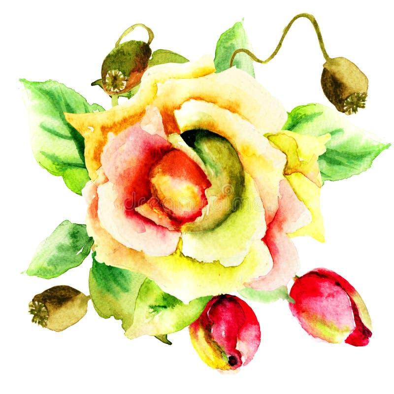 Stilisiert Blumen vektor abbildung