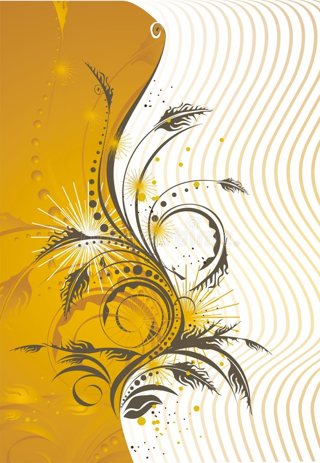 Stilisiert Blumenkartenauslegung vektor abbildung