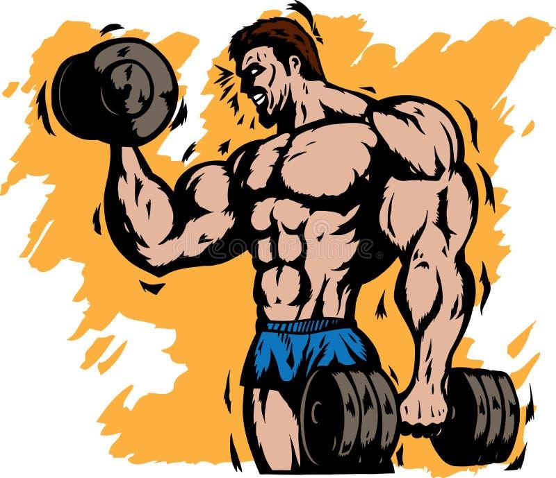 Stilisiert Bodybuilder stock abbildung