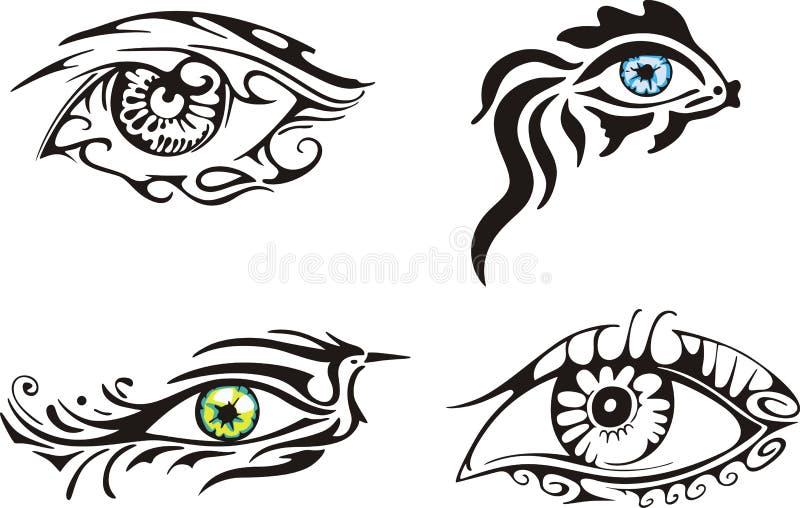 Stilisiert dekorative Augen stock abbildung