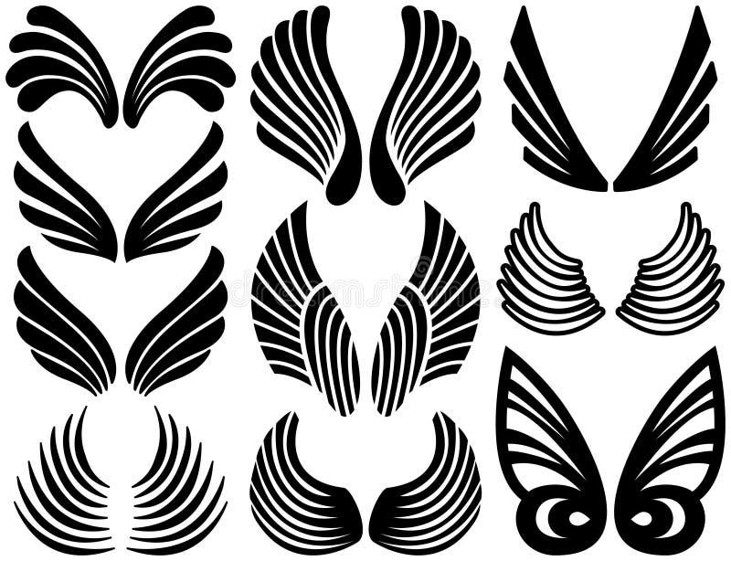 Stilisiert Engels-Flügel stock abbildung