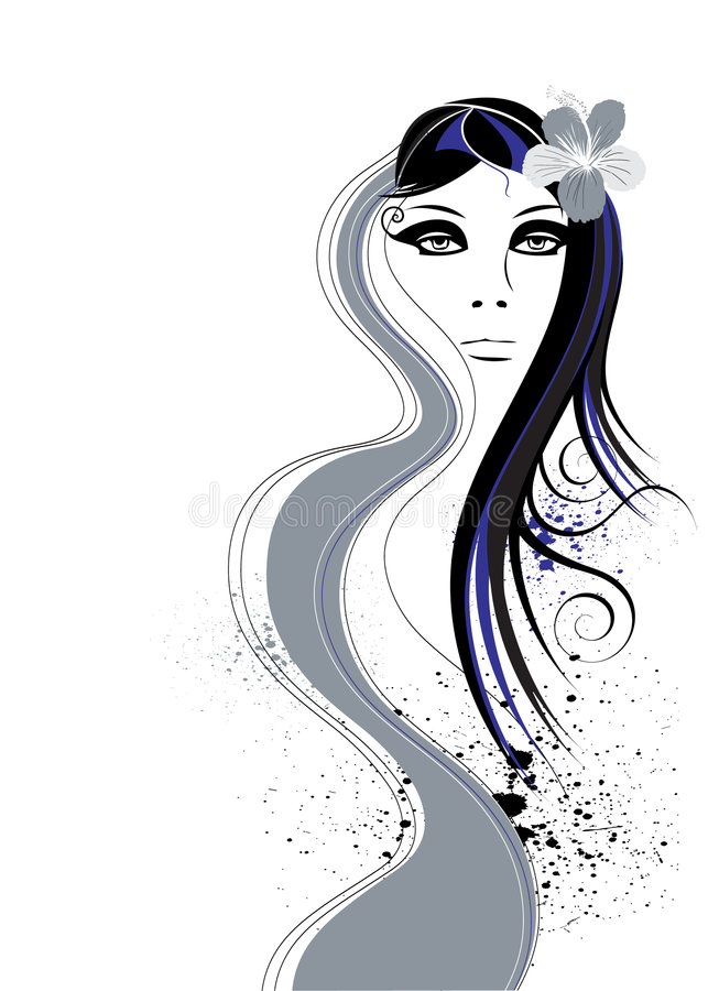 Stilisiert Frau stock abbildung