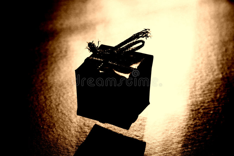 Stilisiert Geschenk stockfoto
