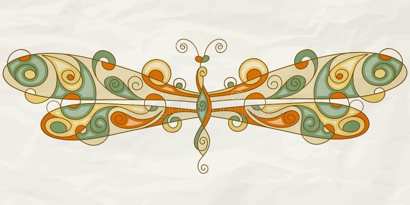 Stilisiert Libelle stock abbildung