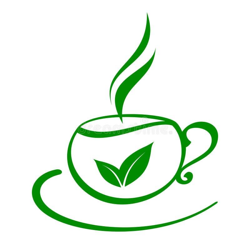 Stilisiert Tasse Tee stock abbildung