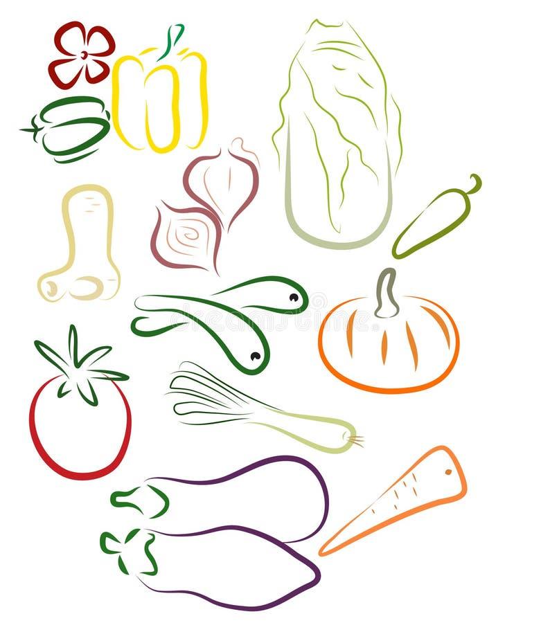 Stilisiert veg stock abbildung